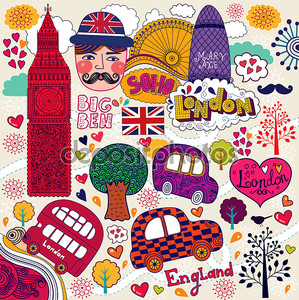 векторный набор лондонских символов