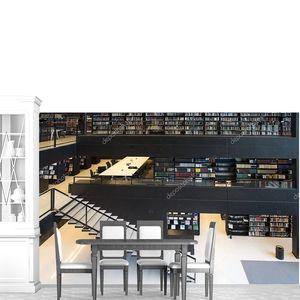 Современный интерьер библиотеки университета Утрехта