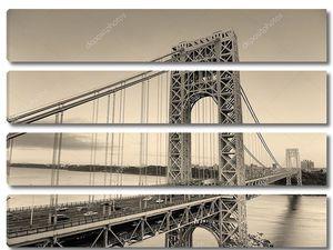 George Washington Bridge black and white