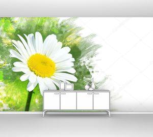 Ромашка цветок. Акварель эффект