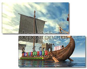Военный корабль древнего Рима