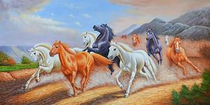 Летящий табун лошадей