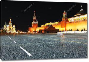 Ночной вид на Красной площади, Москва