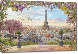 Эйфелева башня с балкона террасы