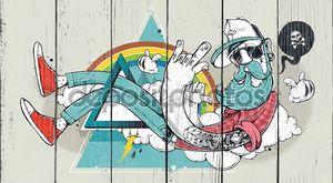 битник Аннотация граффити