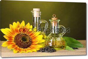 Подсолнечное масло и подсолнечника