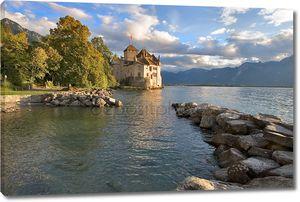 Крепость Hillon на озеро Леман
