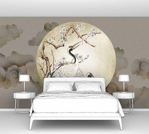 Журавли в кругу луны