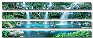 Рыбки и журавли у водопада