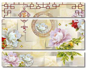 Китайский орнамент с пионами