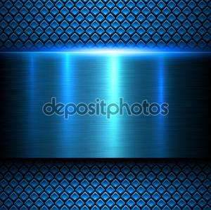 Металлический текстуру фона синий