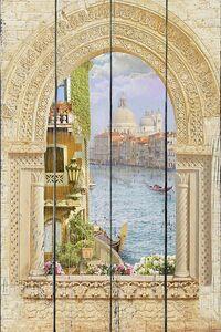 Вид из окна на набережную в Венеции