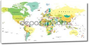 Карта мира - Иллюстрация.
