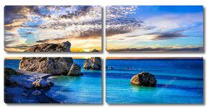 Пляжи острова Кипр на закате