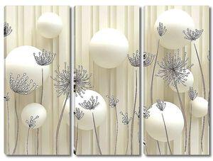 Шары с цветочными зонтиками