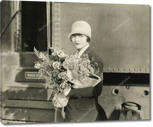 Цветы для встречи с поезда