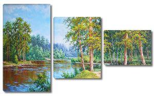 Тихая река в лесу