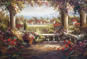 Вид с цветочной террасы на городок