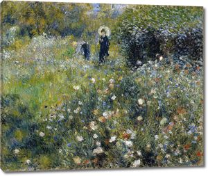 Пьер Огюст Ренуар. Женщина с зонтиком в саду