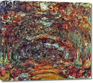 Моне Клод. Aрка из роз, Живерни, 1918-24
