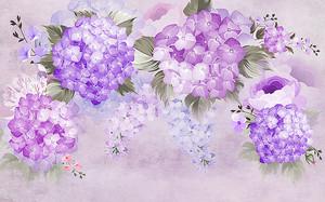 Композиция из фиолетовых бутонов