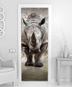 Носорог в стене из звездного неба