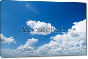 Белые облака на небе