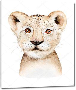Портрет маленького львенка