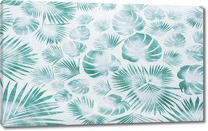 Пальмовый зеленый орнамент