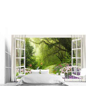 Туманный сад в окне