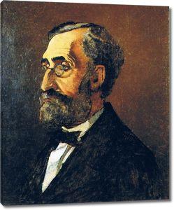 Моне Клод. Портрет Адольфа Моне, отец художника, 1865