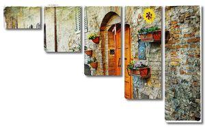 очаровательные старинные улицы средневековых городов Тосканы