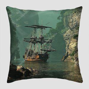 Парусный корабль XVI века