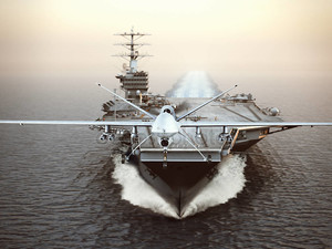 Военные самолеты Drone Пуск с самолета-носителя на забастовки миссии