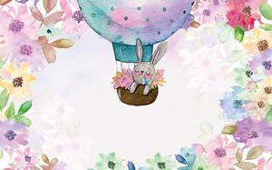 Зайчик на воздушном шаре