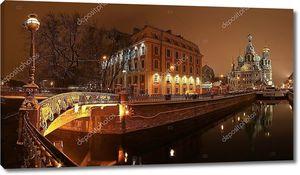 Санкт-Петербург канал Грибоедова ночью