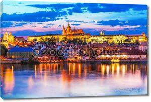 вечерние пейзажи Праги, Чехия