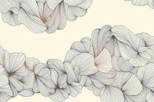 Lusso-переплетение серых линий на бежевом