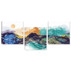 Холмы красками