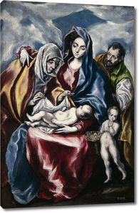 Эль Греко. Святое семейство со святой Анной и маленьким Иоанном Крестителем