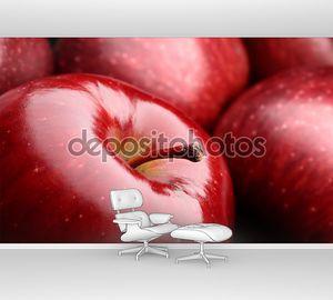 макро-яблоко
