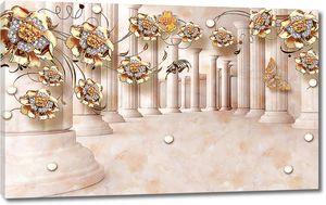 Колоннада с золотыми цветами