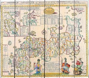 Необычная старая карта с рисунками