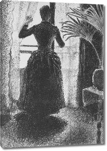 Поль Синьяк. Женщина у окна