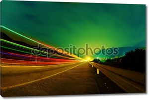 шоссе ночью