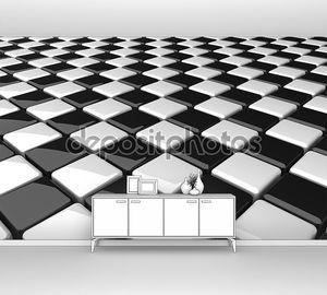 шахматный фон коробок