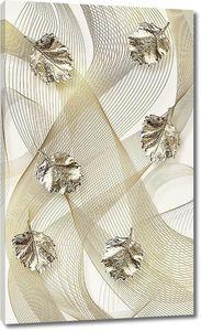 Орнамент из позолоченных листочков