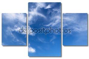 Небесный фон с облачной паутиной