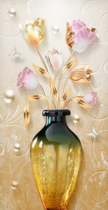Тюльпаны в янтарной вазе