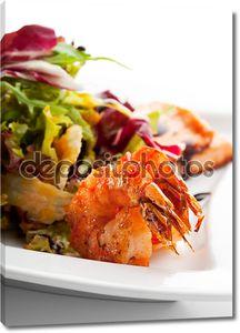 тарелка с морепродуктами